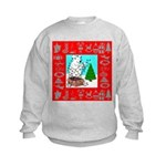 Polar Bear Decorating The Tre Kids Sweatshirt
