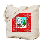 Polar Bear Decorating The Tre Tote Bag