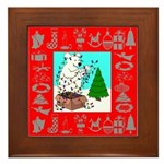 Polar Bear Decorating The Tre Framed Tile