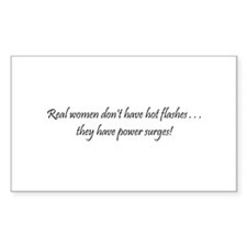 Real Women Rectangle Decal