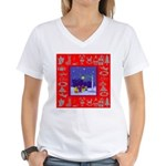 Carolers Women's V-Neck T-Shirt