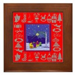 Carolers Framed Tile