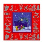 Carolers Tile Coaster