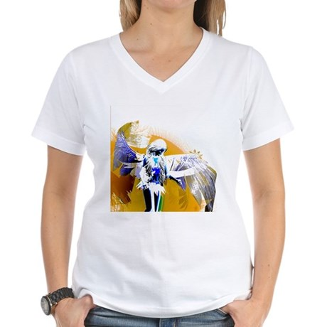 Golden Angel Art Women's V-Neck T-Shirt