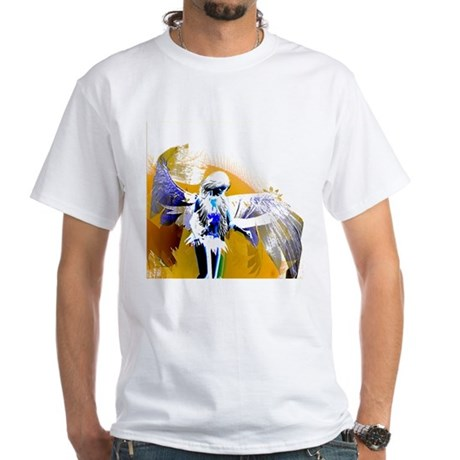Golden Angel Art White T-Shirt