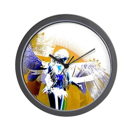 Golden Angel Art Wall Clock