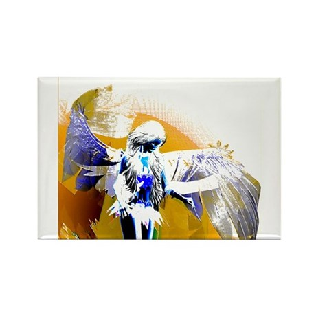 Golden Angel Art Rectangle Magnet (100 pack)