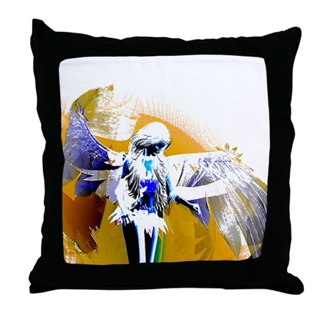 Golden Angel Art Throw Pillow