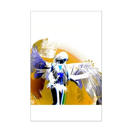 Golden Angel Art Mini Poster Print