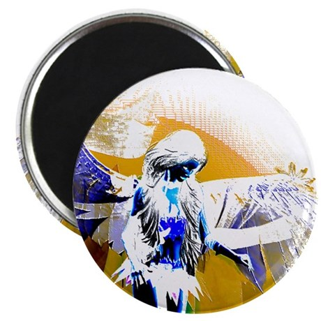 "Golden Angel Art 2.25"" Magnet (100 pack)"