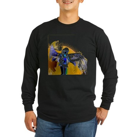 Golden Angel Art Long Sleeve Dark T-Shirt