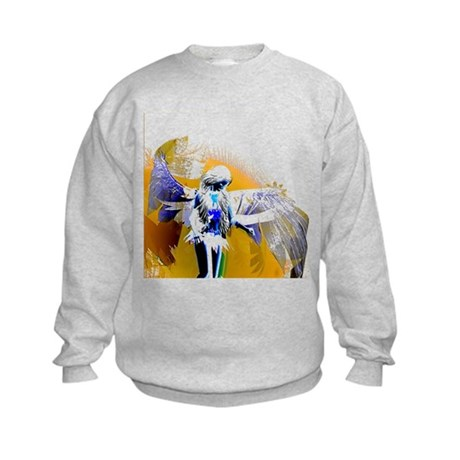 Golden Angel Art Kids Sweatshirt