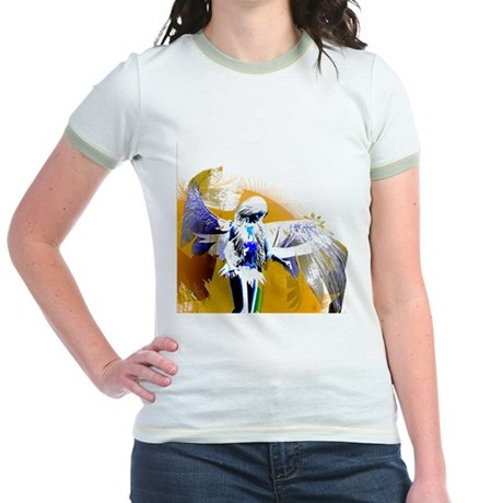 Golden Angel Art Jr. Ringer T-Shirt
