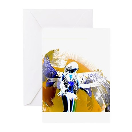 Golden Angel Art Greeting Cards (Pk of 10)