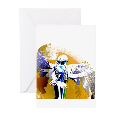 Golden Angel Art Greeting Card