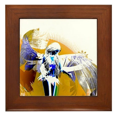 Golden Angel Art Framed Tile