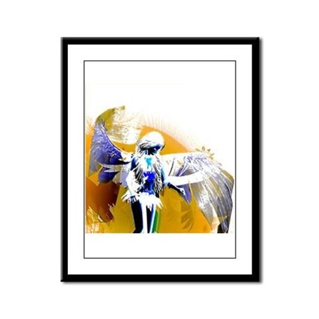 Golden Angel Art Framed Panel Print