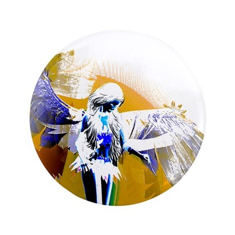 "Golden Angel Art 3.5"" Button"