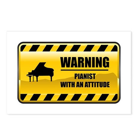Warning Pianist Postcards (Package of 8)