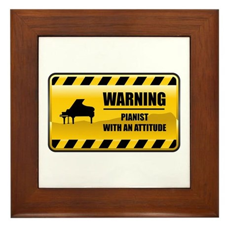 Warning Pianist Framed Tile