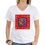 Adoration of Chr Women's V-Neck T-Shirt