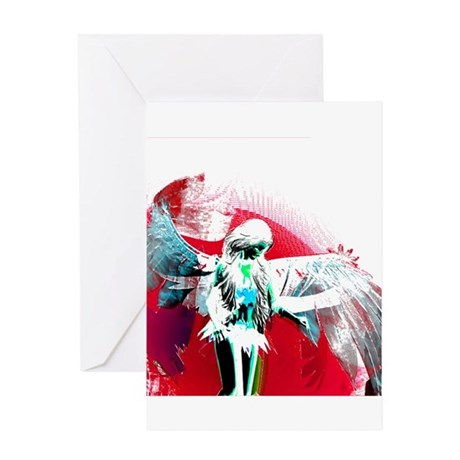 Red Angel Art Greeting Card