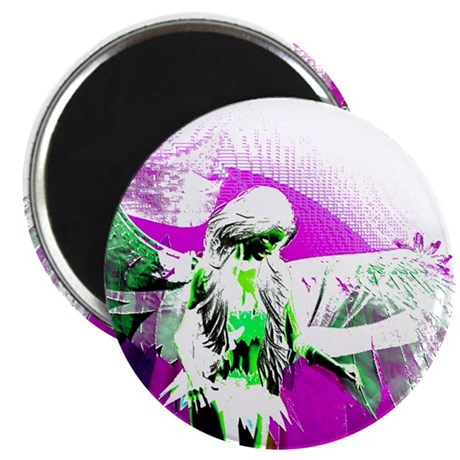 Purple Angel Art 2.25&quot; Magnet (100 pack)