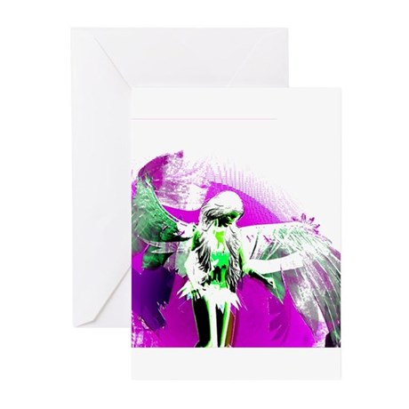 Purple Angel Art Greeting Cards (Pk of 10)