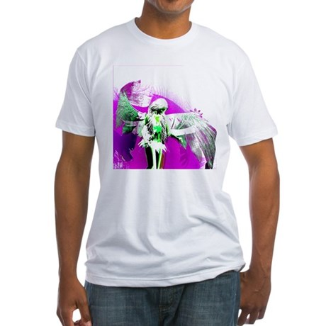 Purple Angel Art Fitted T-Shirt