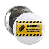 "Warning Payroll Specialist 2.25"" Button (100"
