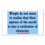 EMERSON - CHARACTOR QUOTE Sticker (Rectangle)