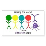 Seeing The World Rectangle Decal