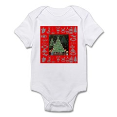 Adoration of Christmas Tree Infant Bodysuit