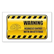 Warning Neuroscientist Rectangle Decal