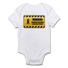 Warning Mountain Bike Rider Infant Bodysuit