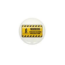 Warning Mountain Bike Rider Mini Button (10 pack)