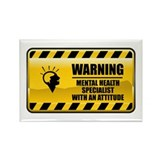 Warning Mental Health Specialist Rectangle Magnet