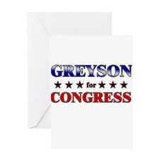 GREYSON for congress Greeting Card