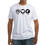 Peace Love Camel Fitted T-Shirt