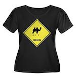 Camel Crossing Women's Plus Size Scoop Neck Dark T