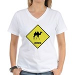 Camel Crossing Women's V-Neck T-Shirt
