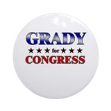 GRADY for congress Ornament (Round)
