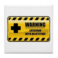 Warning Lifeguard Tile Coaster