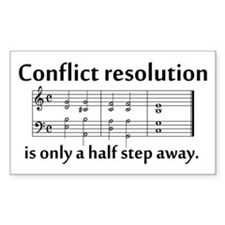 """""""Conflict Resolution"""" Rectangle Decal"""