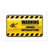 Warning Kayaker Postcards (Package of 8)