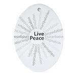 Live Peace Keepsake (Oval)