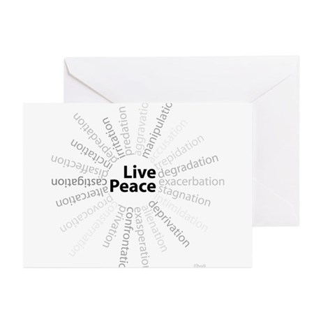 Live Peace Greeting Cards (Pk of 10)