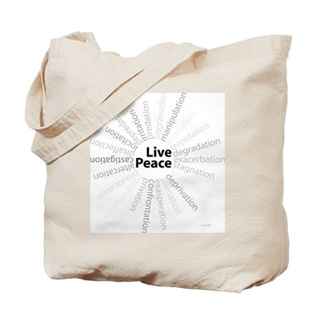 Live Peace Tote Bag
