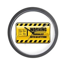 Warning Journalist Wall Clock