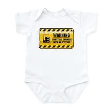 Warning Industrial Engineer Infant Bodysuit